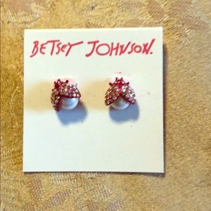NWT Betsy Johnson bling earrings